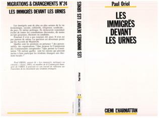Couverture Les immigrés devant les urnes