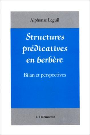 Couverture Structures prédicatives en Berbère
