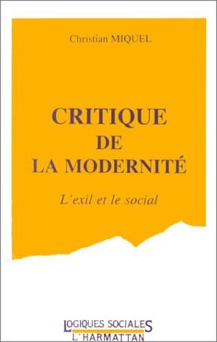 Couverture Critique de la modernité