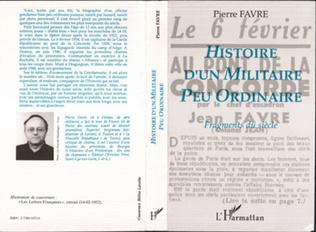 Couverture Histoire d'un militaire peu ordinaire