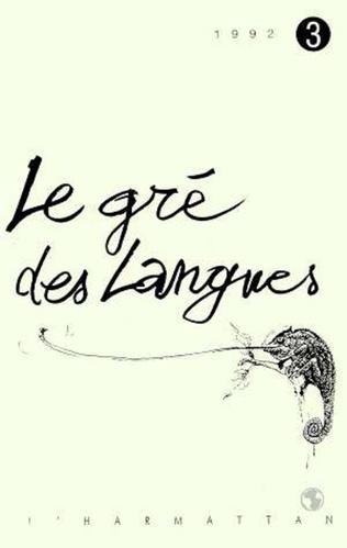 Couverture Le gré des langues n°3