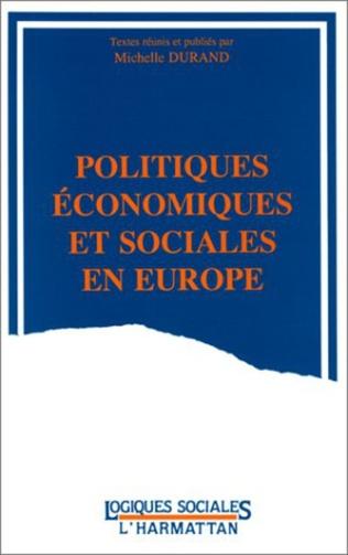 Couverture Politiques économiques et sociales en Europe