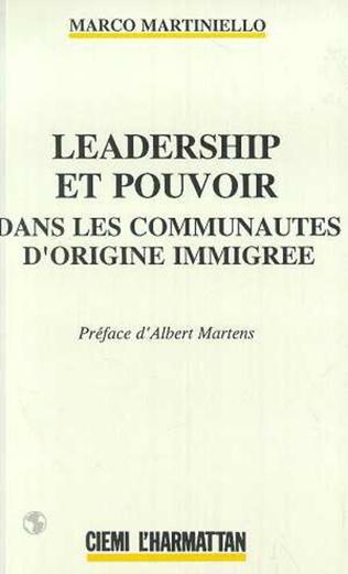 Couverture Leadership et pouvoir dans les communautés d'origine immigrée