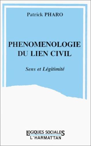 Couverture Phénoménologie du lien civil