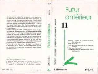 Couverture Futur Antérieur 11