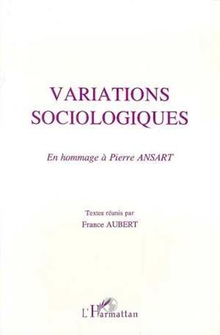 Couverture Variations sociologiques