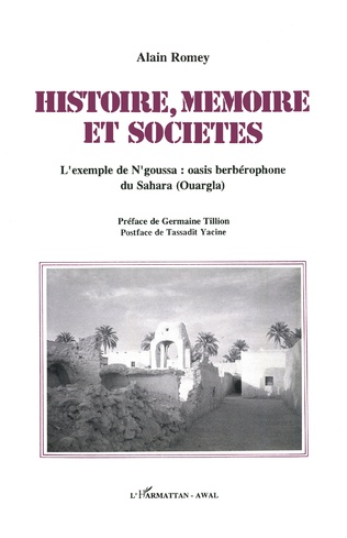 Couverture Histoire, mémoire et sociétés