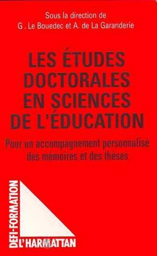 Couverture Les études doctorales en sciences de l'éducation