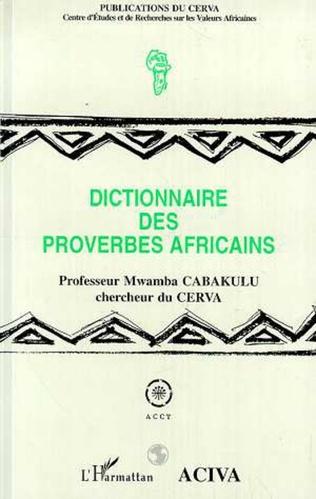 Couverture Dictionnaire des proverbes africains