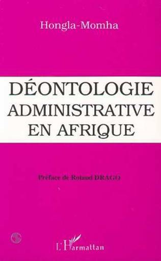 Couverture Déontologie administrative en Afrique