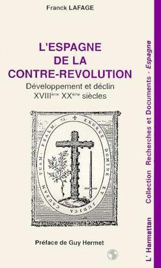 Couverture L'Espagne de la contre-révolution