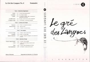 Couverture Le gré des langues n°4