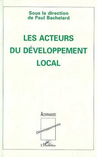 Couverture Les acteurs du développement local