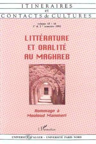 Couverture Littérature et oralité au Maghreb (n°15-16)