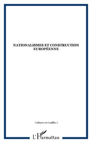 Couverture Nationalismes et construction européenne