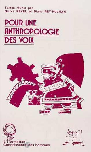 Couverture Pour une anthropologie des voix