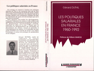 Couverture Les politiques salariales en France 1960-1992