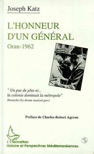 Couverture L'honneur d'un général