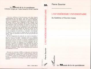 Couverture L'ouvriérisme universitaire