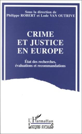 Couverture Crime et justice en Europe