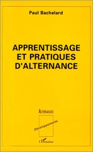 Couverture Apprentissage et pratiques d'alternance