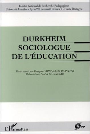 Couverture Durkheim, sociologue de l'éducation