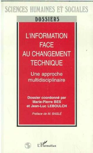 Couverture L'information face au changement technique