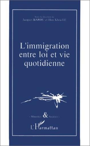 Couverture L'immigration entre loi et vie quotidienne