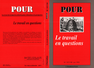 Couverture Le travail en question