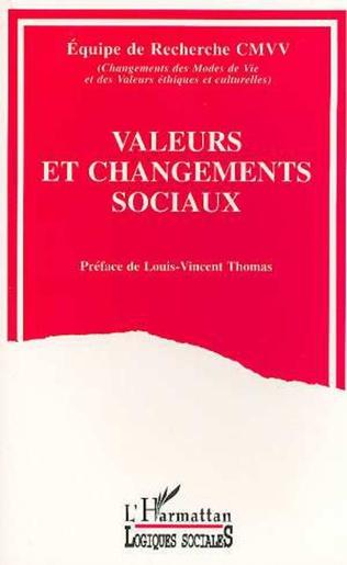 Couverture Valeurs et changements sociaux