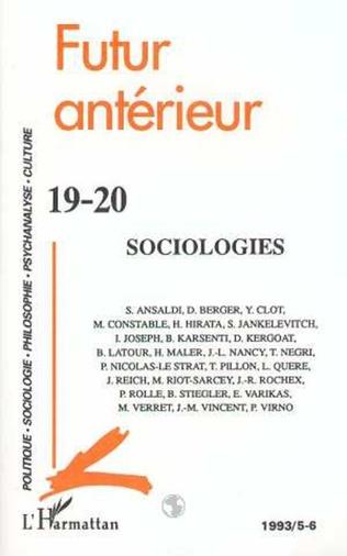 Couverture Sociologies