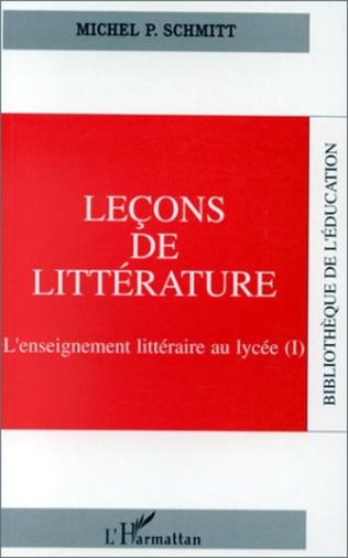 Couverture Leçon de littérature