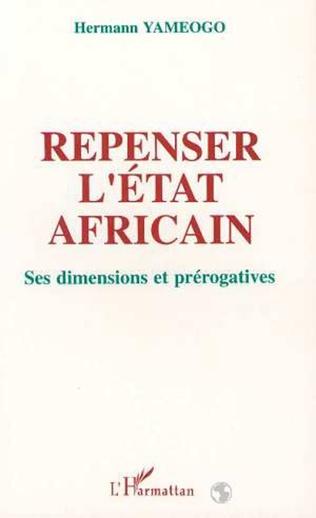 Couverture Repenser l'État africain