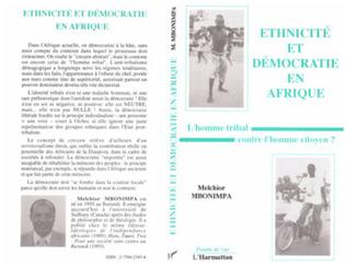 Couverture Ethnicité et démocratie en Afrique