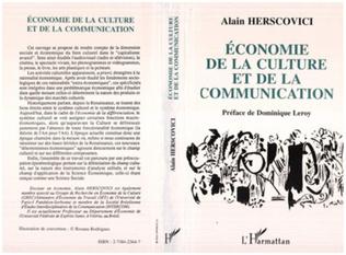 Couverture Economie de la culture et de la communication