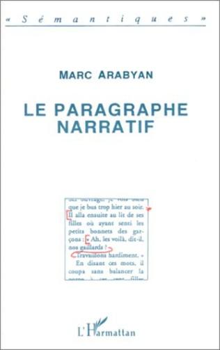 Couverture Le paragraphe narratif