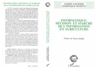 Couverture Informatique, décision et marché de l'information en agriculture