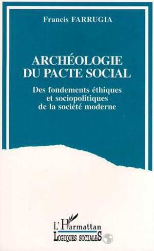 Couverture Archéologie du pacte social