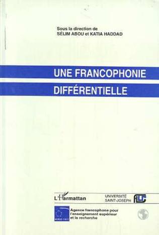 Couverture Une francophonie différentielle