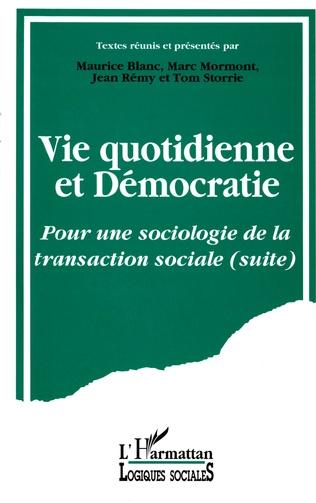 Couverture Vie quotidienne et démocratie