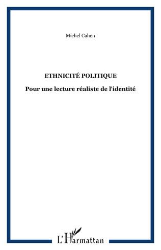 Couverture Ethnicité politique