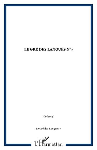 Couverture Le gré des langues n°7