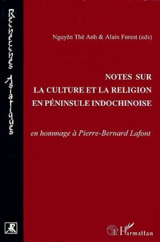 Couverture Notes sur la culture et la religion en péninsule indochinoise