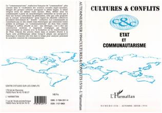 Couverture Etat et communautarisme