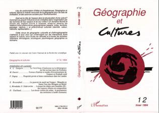 Couverture Géographie et cultures n°12