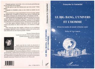 Couverture Le big-bang, l'univers et l'homme