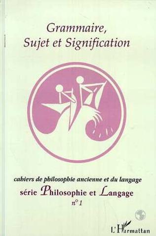 Couverture Grammaire, sujet et signification