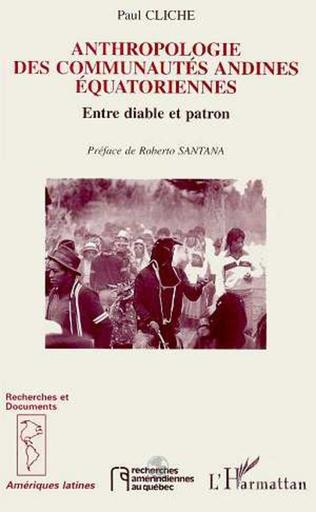 Couverture Anthropologie des communautés andines équatoriennes