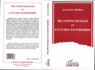 Couverture Relations sociales et cultures d'entreprise