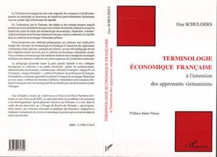 Couverture Terminologie économique française à l'intention des apprenants viêtnamiens